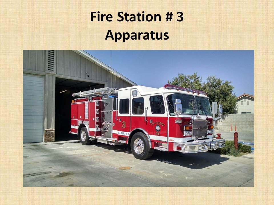 Fire Station 3 Apparatus