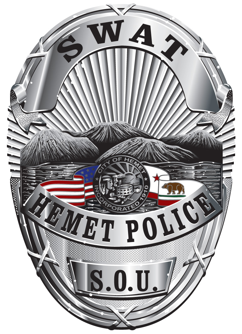 Hemet Police SOU Badge